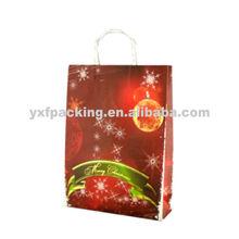Christmas tree kraft paper gift bags