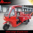 HUJU 250cc semi-cabin three wheel cargo motorcycle / cargo tricycle with cabin / cabin cargo tricycle for sale