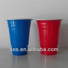 16oz Double Color Disposable Plastic Cup