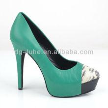 New design wholesale italian ladies leather shoes 2014