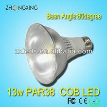 2013 New Products PAR38 COB LED 13W 1250-1350Lm with ETL E27 base led par light par38
