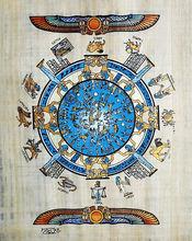 Egyptian Papyrus Paintings, Zodiac Calendar 2