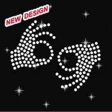 Delta Sigma Theta Hand Graphics Rhinestone Heat Transfer Customize Designs heat for t-shirt L 1 13