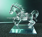 Personalized Crystal Glass Horse Figurines for Novelty Business Gifts