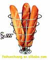De gran tamaño de acero inoxidable en forma de cono de pan francés stand/cesta de pan para pan francés