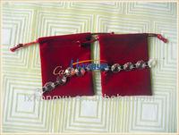 Hot sale velvet jewelry pouch bag