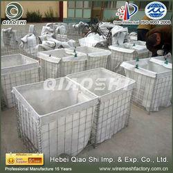 QiaoShi galfan steel military barrier basket sandbag wall facotry price