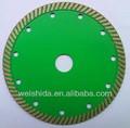 105mm 110mm 125mm 150mm 180mm 200mm 230mm turbo diamante de corte de hojas de sierra de disco para el granito y mármol de hormigón