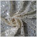 beautiful malha de tule bordado lantejoula tecido para vestuário
