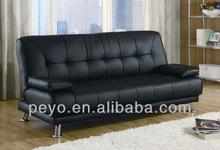 Cheap Black Leather Upholstered Multi-purpose Folding Sofa Bed SC019