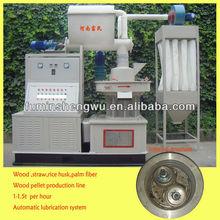 Self lubrication system pelletizer machine for wood waste