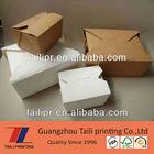 Chinese take away boxes pasta take out box cardboard take away food box