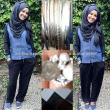 tassels hijab pompom hijab