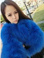 2014 elegant and fashion short design real fox fur coat for women