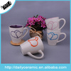AB grade popular stoneware heart design mugs and cups