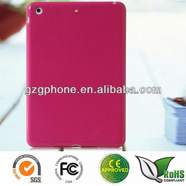 Colorful soft back cover case for ipad mini 2