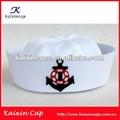branco chapéu de marinheiro para festa com projeto personalizado bordado na aba