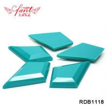 Bule color fancy stone flatback erinite color with irregular shape rhinestones resin bottom of plating set