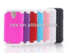 New Arrival Hybrid Soft Silicone and Hard PC Plastic Case with Star Design Cover For Samsung Galaxy S4 i9500