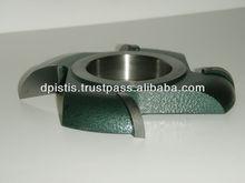 Round groove carbide cutter 1/4