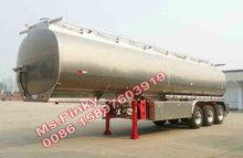 2 / 3 axle Aluminum Alloy Tank Semi Trailer for fuel,oil,water,liquid Chemical