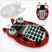 animal style office and school bling rhinestone calculator