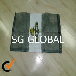 Cavendish label poly mesh bag dark green color