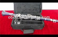 Musical instrument nickel plated ABS dark purple clarinet(1201NDP)