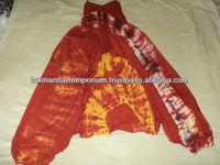 rayon tie dye indian harem pajamas