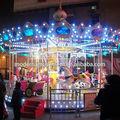 popular parque de atracciones carrusel de niños caballo
