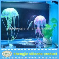 aquarium decorate silicone acaleph/silicone medusa/silicone jellyfish