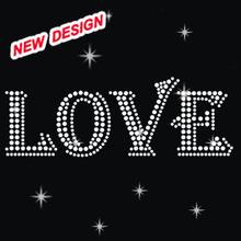 Wholesale hot fix customized bling nailhead iron on hearts O 1 01