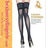 wholesale flexible girls silk sexy black woman stocking