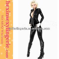 Wholesale cheap fashion pvc corset catsuit red