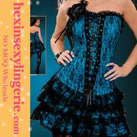 Wholesale blue big girl sexy corset 2012