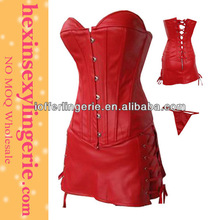 Wholesale lady cheap fashion red plus size leather catsuit plus size