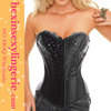 wholesale cheap leather corset steel boned tight lacing