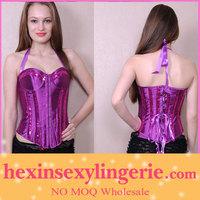 Plus size exotic maternity espartilho purple corset prom dress
