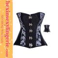 Funcional cintura fina mulheres de peito espartilho preto e shaper