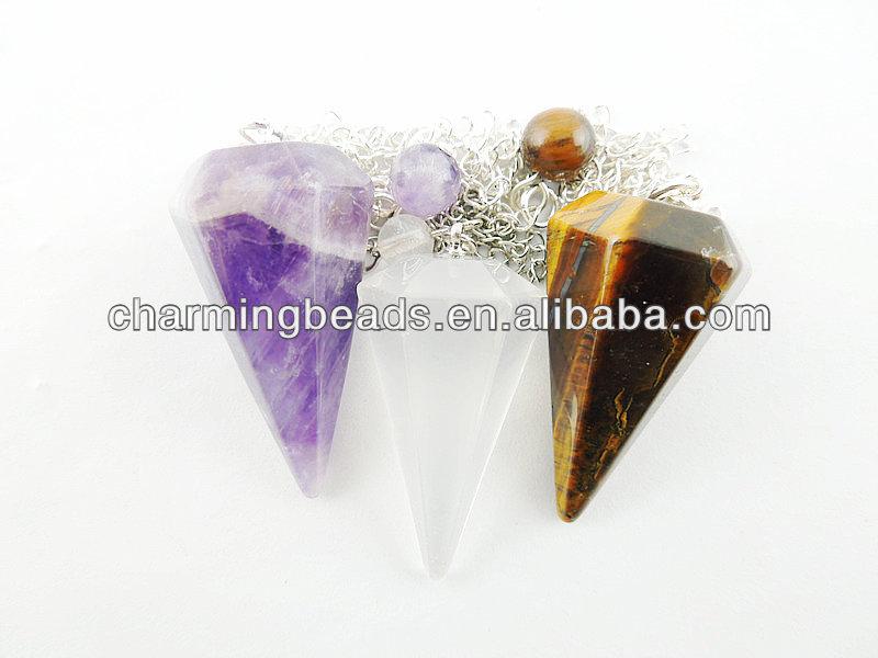 Quartz Crystal Jewelry Wholesale ch Esp0141 Gemstone Pendulum Wholesale Quartz Pendulum For Jewelry