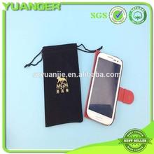 Factory Wholesale Drawstring Silk Velvet Pouch Gift Bag For Phone Exporter