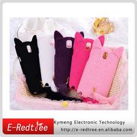 fashion cheap fur cat phone cases for samsung note 3 n9000 n9005