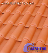 Mixed Ceramic Roof Tile 12,5 Red
