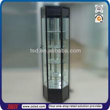 TSD-W175 china supplier round glass display cabinet,watches showcase display,custom corner glass display cabinet