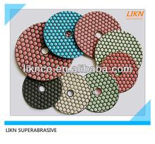 Easy use granite dry polishing pads