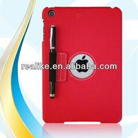 Flip leather case for ipad mini,For ipad mini ultra thin pu+pc case hot selling with stylus pen