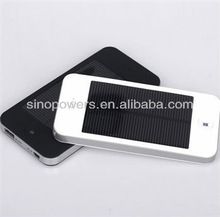 Portable Ultrathin Solar power bank , solar charger with LED light