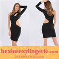 wholdsale 2013 novos venda quente de manga longa preta vestido bandage