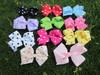 4''baby ribbon polka dot bows with clip, hairclips,Bow Dots,Girls' hair accessories