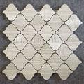 arabesque simple mosaïque en bois blanc